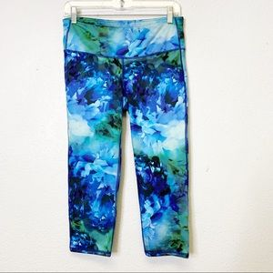 Athleta Blue Floral Leggings